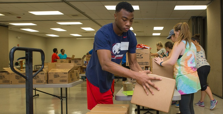 South volunteers participated in the 2017 Jaguars Care: WOW Day of Service