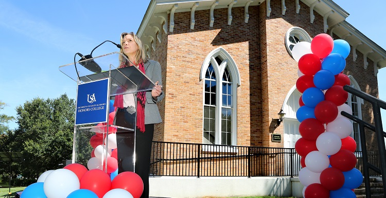 The University of South Alabama has officially opened its new Honors College, with 248 academically talented students enrolled. Opening ceremonies were held today at the Seaman's Bethel building, a historic structure that serves as the Honors College headquarters.