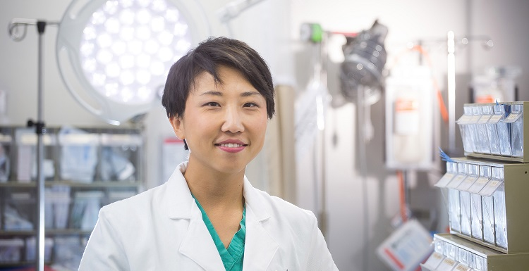 Dr. Linda Ding, an assistant professor of surgery in the College of Medicine, is one of the featured speakers listed in the USA Speakers Bureau. The topics she is available to speak on include trauma, surgical critical care, and firearm violence/injury prevention.  data-lightbox='featured'