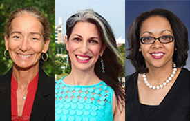 From left, Dr. Julee Waldrop, Dr. Krista Harrell and Chandra Brown are among the featured speakers at the Junior League of Mobile's Focus Women's Conference at the Mobile Convention Center.
