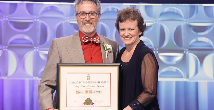 Dr. Dennis Fell, professor and chair of the department of physical therapy, received the Lucy Blair Service Award at the American Physical Therapy Association annual conference in Boston, Mass.