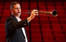 Dr. Peter Wood, professor of music, said he's been able to take the lessons he's learned by playing the trumpet he built and help students as they practice to become better musicians.