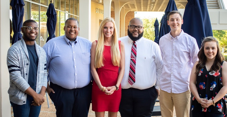 South recently elected next year's Student Government Association officers. They are, from left, Jordan Griffin, chief justice; Shaun Holloway, vice president; Grace Newcombe, president; Broderick Morrissette, attorney general; Caleb Santa Cruz, treasurer; and Breanna Healy, student at large.