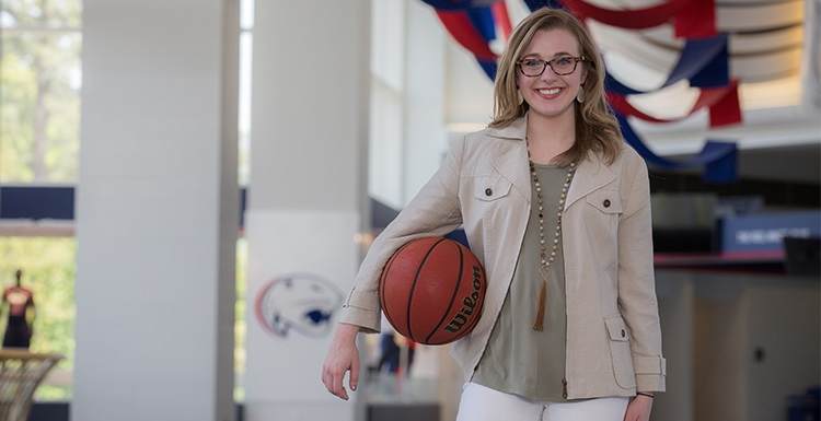 "Karli Sanford, who has worked as a student in promotions for South Athletics, is set to take a sales job with the Phoenix Suns. ""What I really loved about talking with the people out there with the Phoenix Suns is that they preach on family. At South, we're all a big family, too."""
