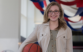 """Karli Sanford, who has worked as a student in promotions for South Athletics, is set to take a sales job with the Phoenix Suns. """"What I really loved about talking with the people out there with the Phoenix Suns is that they preach on family. At South, we're all a big family, too."""""""