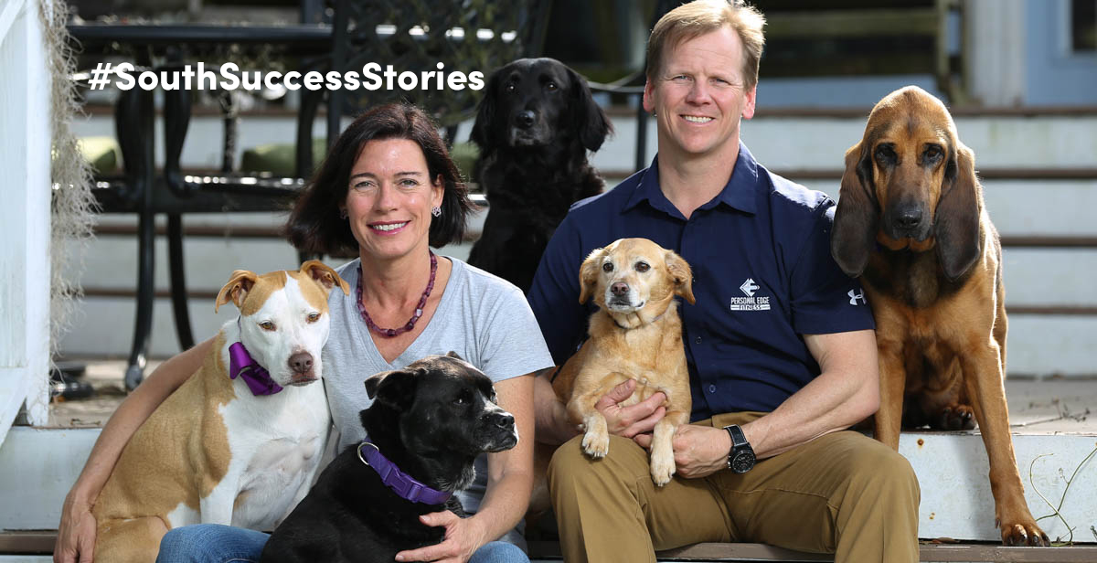 Stephanie Eads-Williamson has made it her life's work to save stray animals, and some of those end up at her home on Dog River, where she lives with her husband, Garrett Williamson.