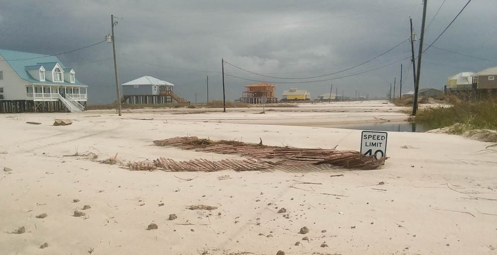 Dauphin Island after Hurricane Nate.