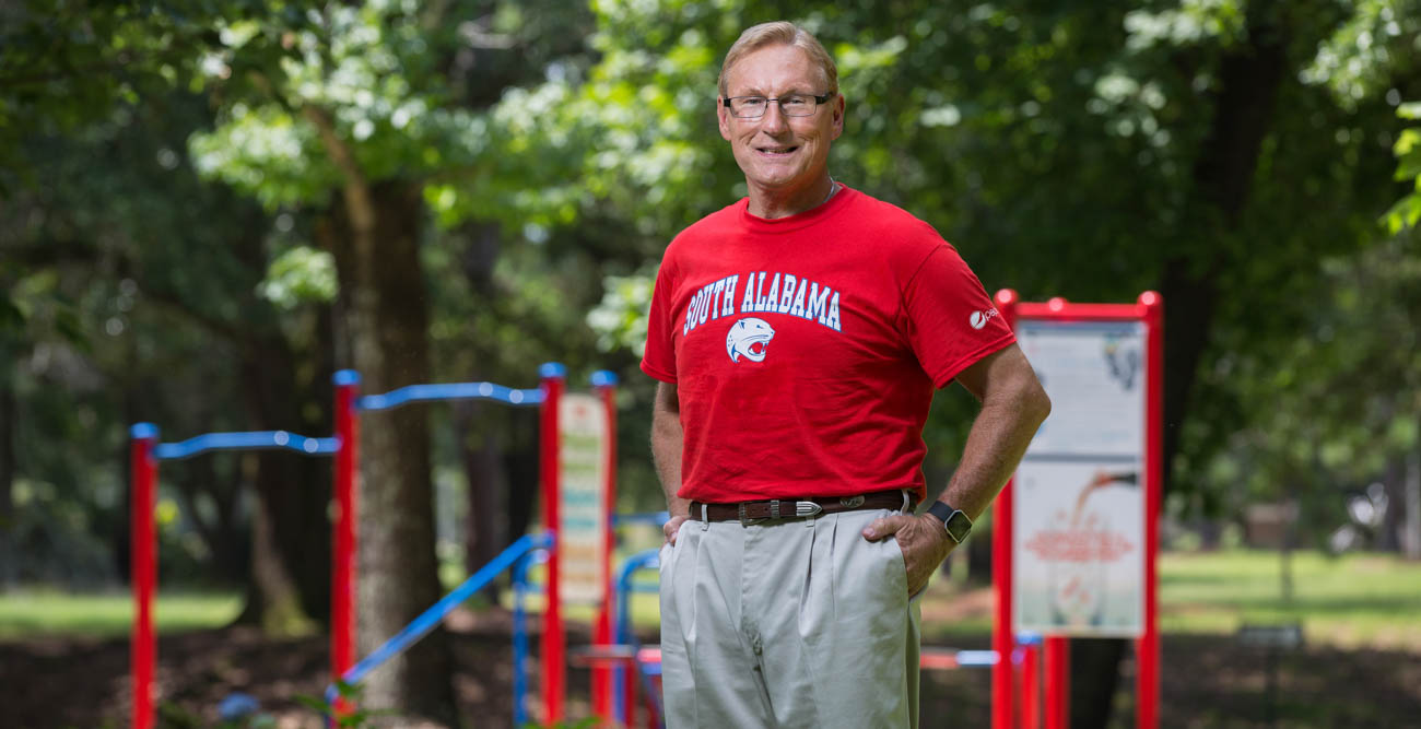 Fred Kelley turned to exercise to improve his life following a heart attack in 2000. This fall he enrolled at South and is taking online classes toward a college degree.