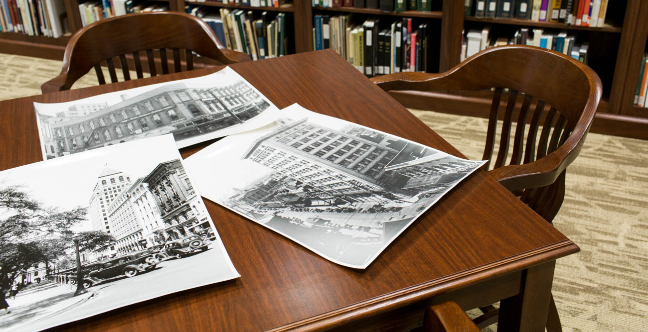 The Doy Leale McCall Rare Book and Manuscript Library moved in to new space at the USA Marx Library in 2016. The archives was begun 40 years ago with $2,800 and use of a building at Brookley Field. Among its collections are extensive photo archives of the University and the Mobile area.