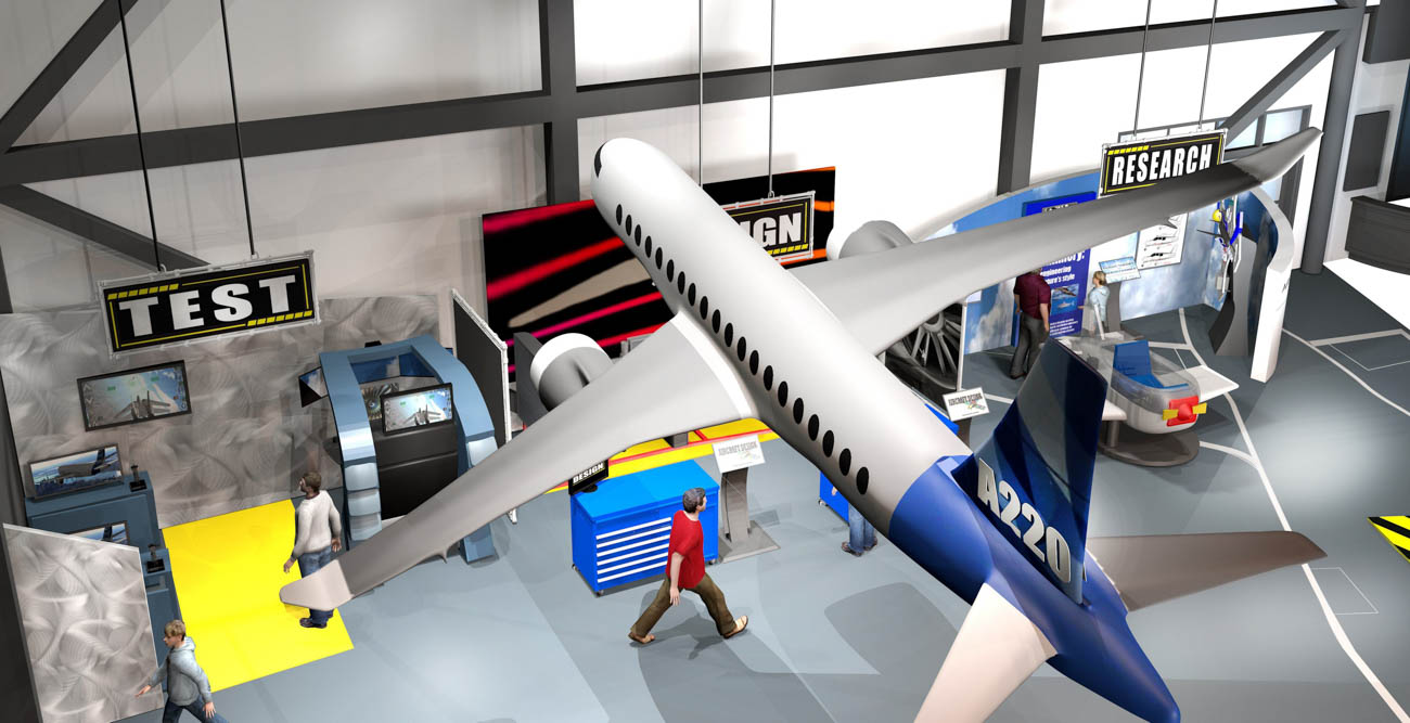 Above is a rendering of the Flight Works Alabama aviation experience center to be built next year. The University of South Alabama is partnering with Airbus to provide support in several areas. data-lightbox='featured'
