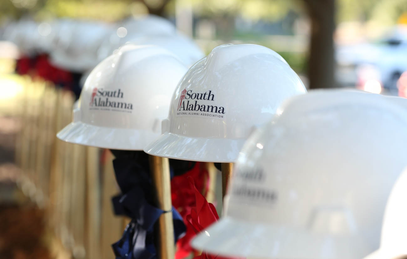 The Julian and Kim MacQueen Alumni Center, which will serve as the permanent home for South's more than 80,000 alumni, is projected to be completed by Spring 2020.