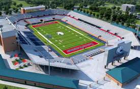 Rendering of future USA football stadium