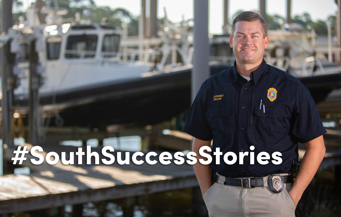 Maj. Jason Downey, a 2002 graduate of the University of South Alabama, has been named chief enforcement officer for the Marine Resources Division of the Alabama Department of Conservation and Natural Resources.