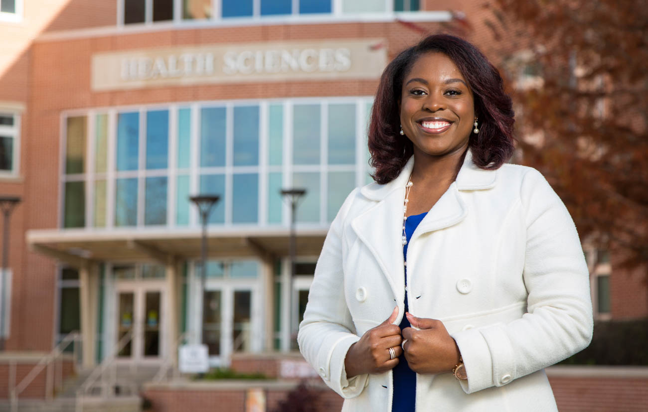 LaTya McCall, a nursing graduate, founded the BIG Club at South, which supports the Big Brothers Big Sisters of South Alabama. She looks forward to continuing to serve in a big sister role.