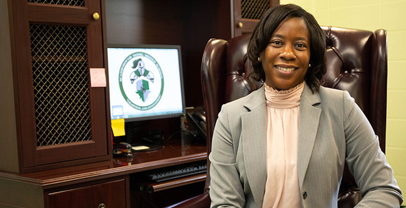 Andrea Dennis, a graduate of the University of South Alabama's College of Education and Professional Studies, is the principal at Scarborough Middle School, where she was recognized statewide for her work.