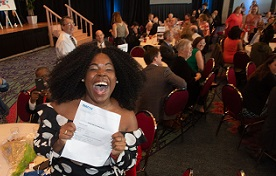 Seventy-seven senior medical students from the University of South Alabama College of Medicine gathered Friday in the Grand Ballroom at the Mobile Convention Center to open their letters from the National Resident Matching Program and find out where they will be continuing their medical education.