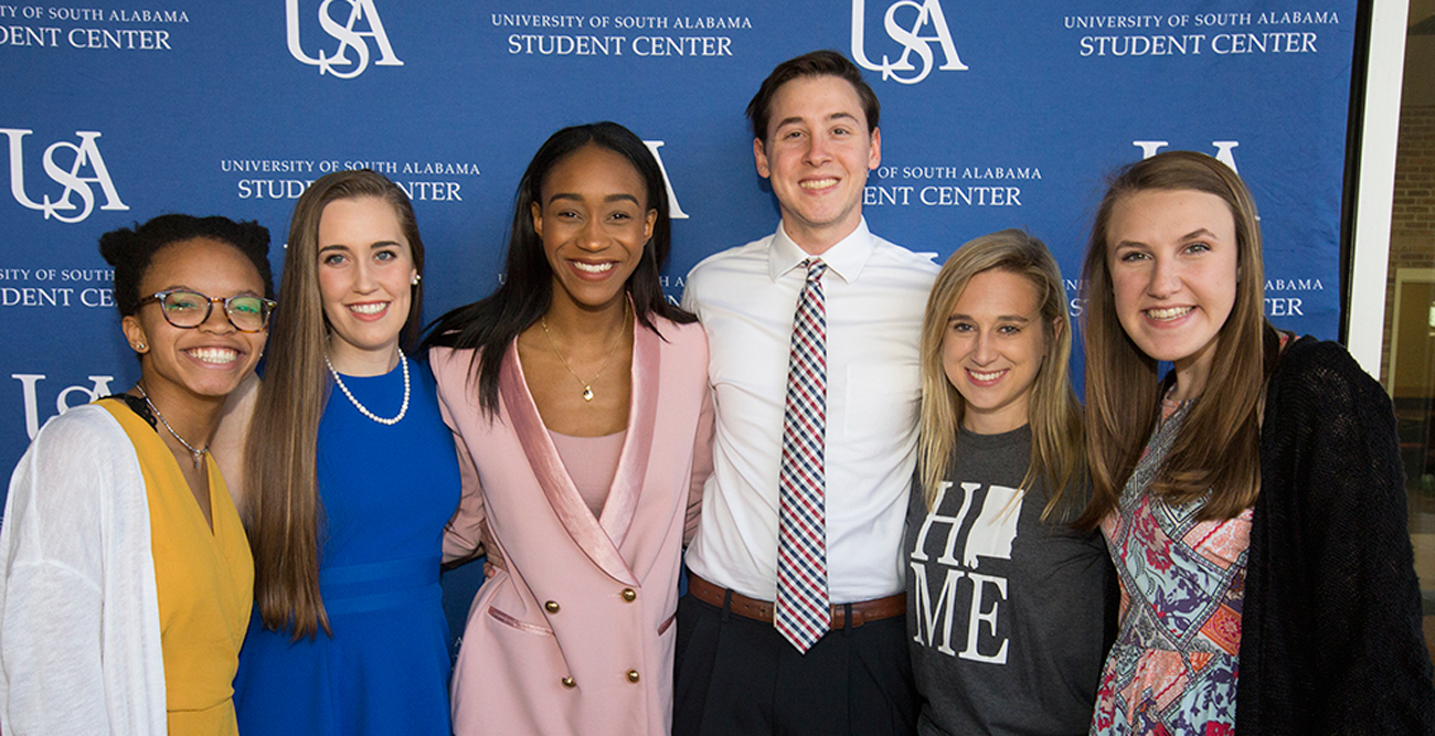 Image contains the newly elected SGA officers for the 2019-2020 year.