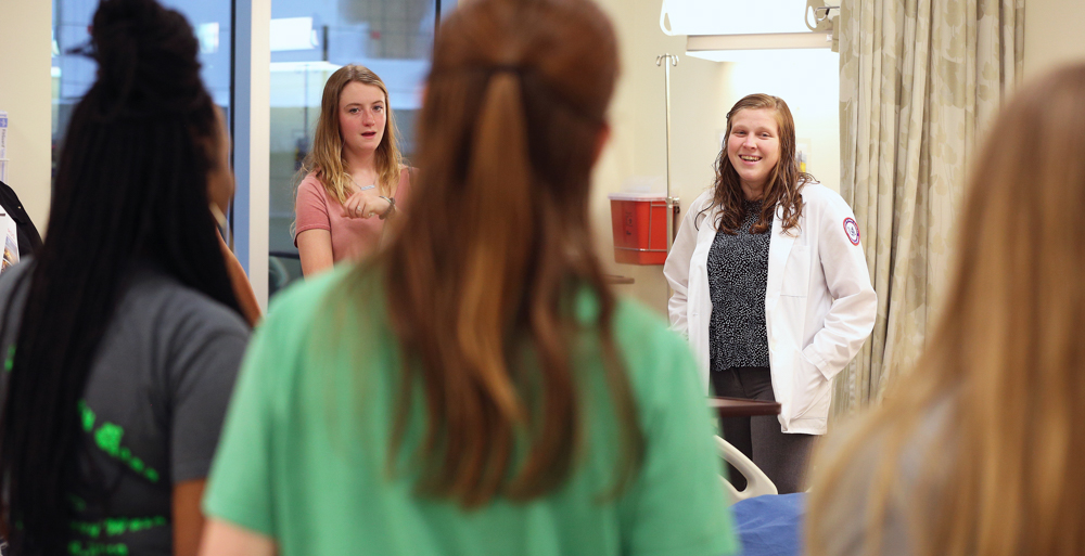 College of Nursing students welcomed visitors to an open house, a National Nurses Week event where information was provided about the college's nursing programs and curriculum.