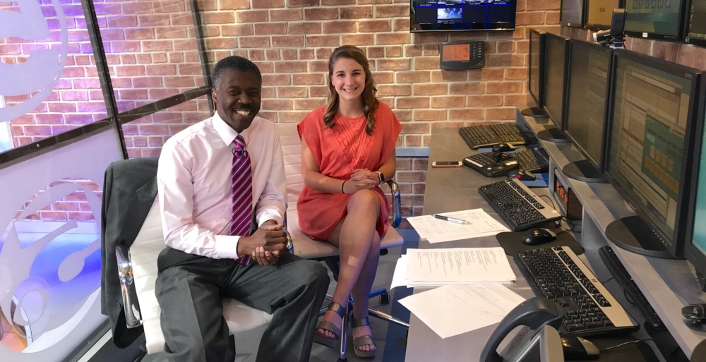 Caroline Carithers, a 2019 South graduate who is starting at WKRG-TV5, joins Chief Meteorologist Alan Sealls as a member of the WKRG First Alert Storm Team. Sealls taught Carithers while she was at USA.