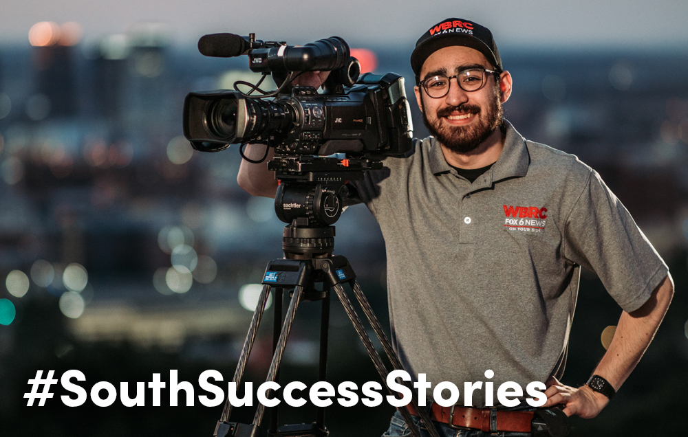 Andrew Conniff, who earned a strategic communication degree from the University of South Alabama in 2017, was named 2019 Photojournalist of the Year by the Alabama Broadcasters Association.