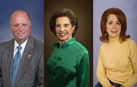 "The University of South Alabama Board of Trustees recently elected officers for three-year terms. Picked were businessman James H. ""Jimmy"" Shumock of Mobile as chair pro tempore, Mobile philanthropist and civic volunteer Arlene Mitchell as vice chair and businesswoman Alexis Atkins as secretary."