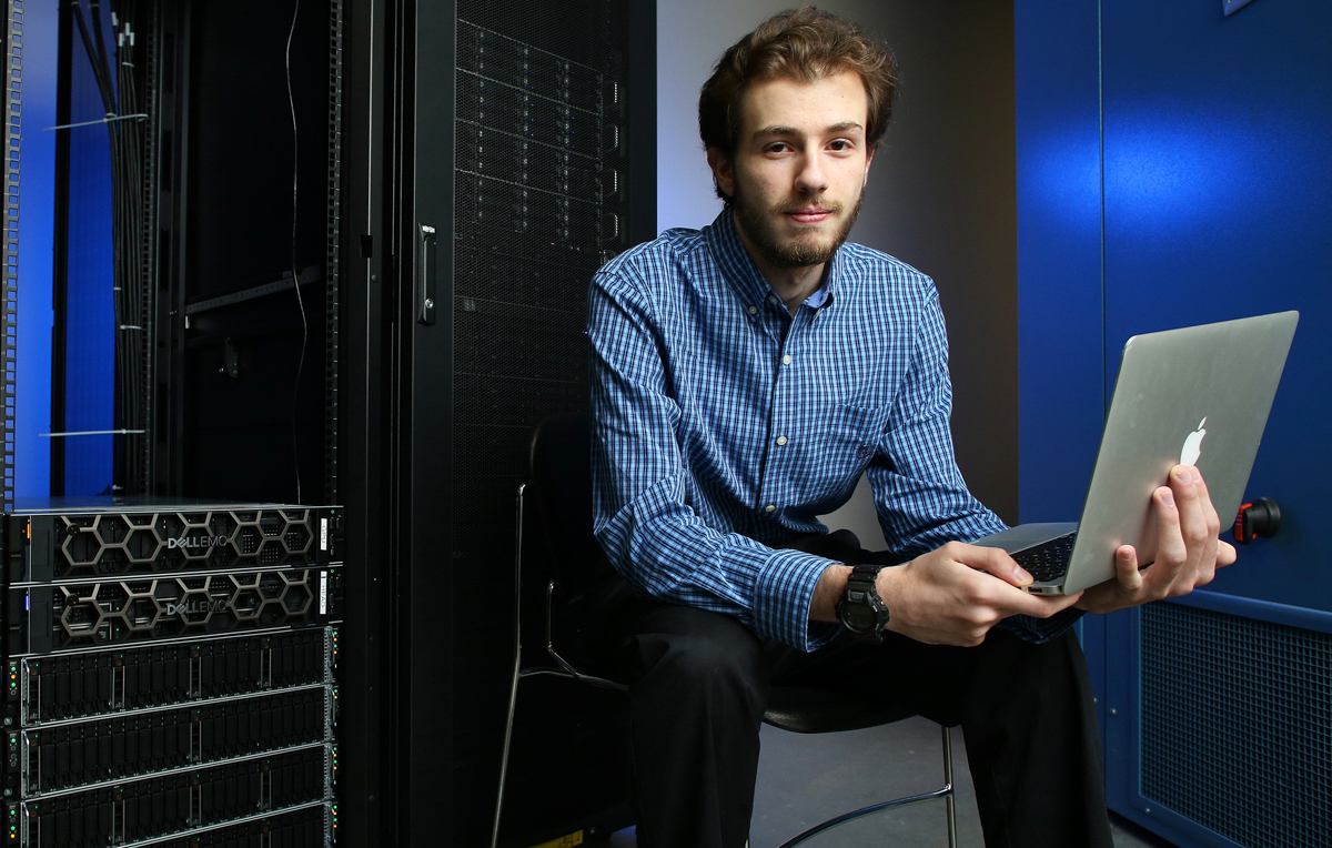 Through undergraduate research, Baraa Mando, a senior in chemical engineering, found an outlet for his love of science, math and computer coding.