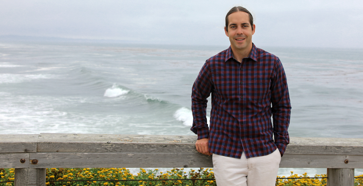"Thomas ""Reid"" Nelson credits South's Ph.D. program in marine sciences with having the resources and range of expertise in faculty to support his research interests and education. He works in a National Marine Fisheries Service lab with other scientists from UC Santa Cruz."