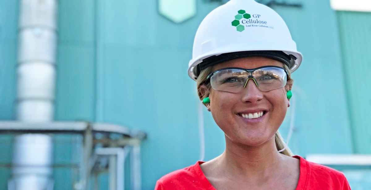 Two internships, college courses and involvement in USA's Society of Women Engineers chapter all helped prepare Kelly Welsh for her job as an engineer for Georgia-Pacific.