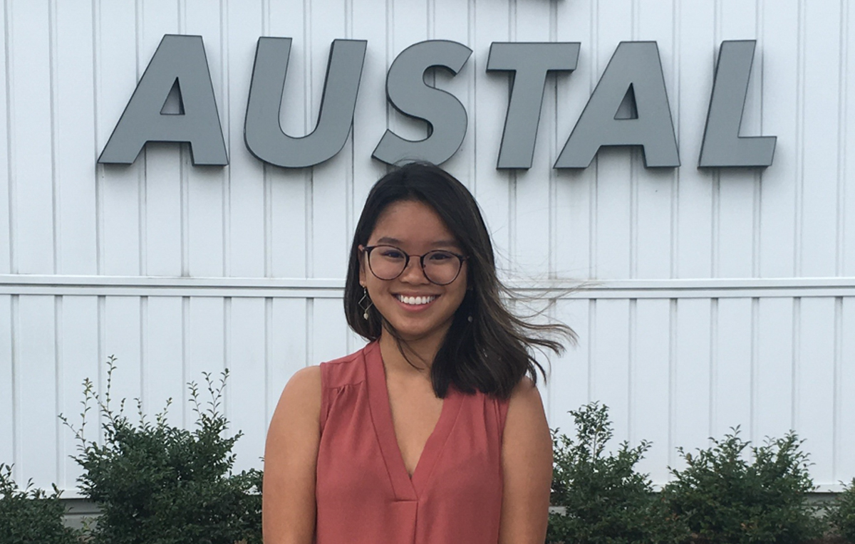 Hong Nguyen majored in finance and accounting to earn her degree in business administration at USA Mitchell College of Business. She completed three internships while at South, one at Austal USA where she now works.