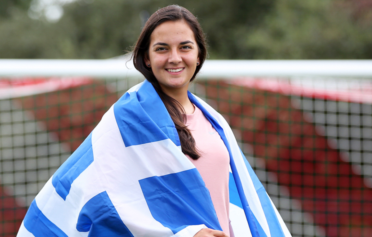 Athanasia Moraitou is a graduate student at South, where she is a midfielder on the soccer team. She also plays for the Hellenic Women's National Team.