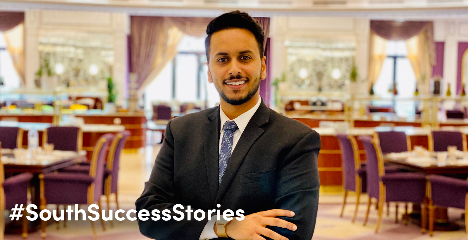 "Raed Alsulami, a University of South Alabama graduate in hospitality and tourism management and assistant manager for the main restaurant at the Ritz-Carlton Hotel in Riyadh, Saudi Arabia, credits his experiences as a student for his current success. ""I feel that the program at USA helped me get to where I am today and provided opportunities for me to maximize my goals in the industry,"" he said."