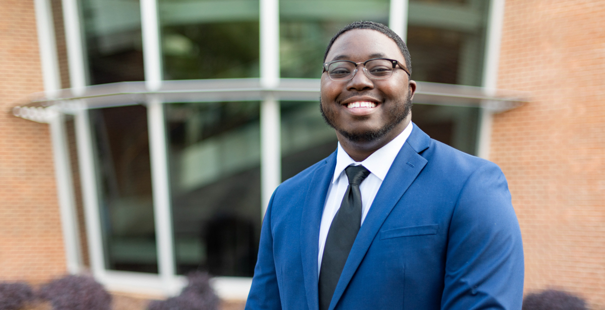 Martavious Hails, a spring 2020 computer science graduate, works on a NASA team that uses satellite information to improve short-term weather forecasting.
