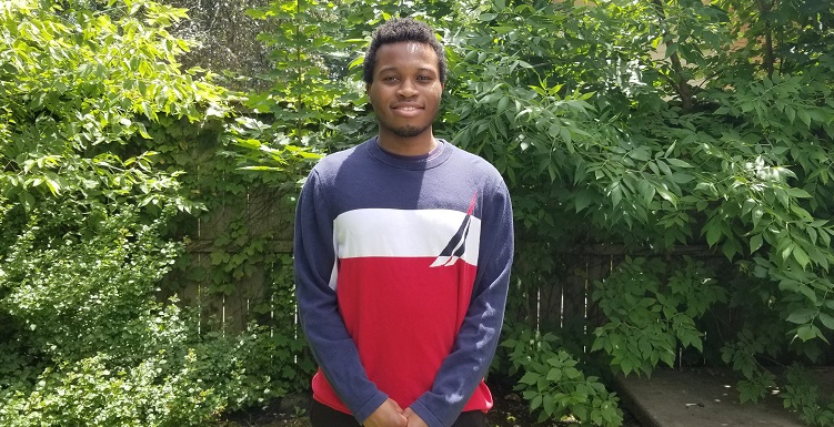Ted Amadi returned to his hometown of Chicago to participate in the American Heart Association's Supporting Undergraduate Research Experience.