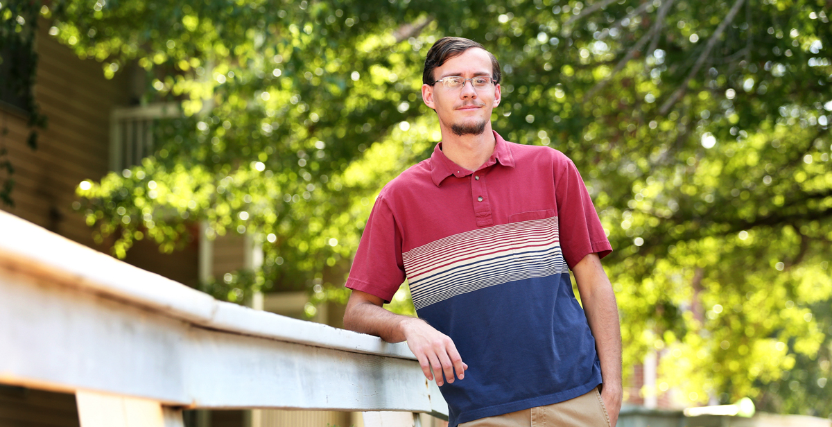 Clayton Suell, an engineering senior at the University of South Alabama, was recognized with an Alabama Space Grant Consortium Award.