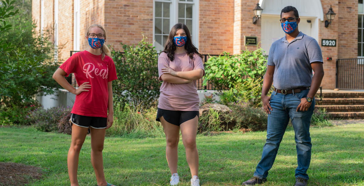 "Savannah Dinkel, Lauren Gaspard and Jose Pardo Granados are among the new Honors College students who, along with other freshmen, began classes this week on South's campus. ""I wanted to be part of a community,"" Dinkle said."