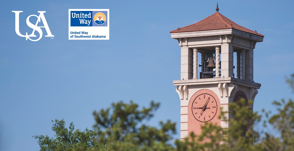 Since 1998, the University and USA Health have raised over $5.5 million for the United Way of Southwest Alabama through its annual campaign.