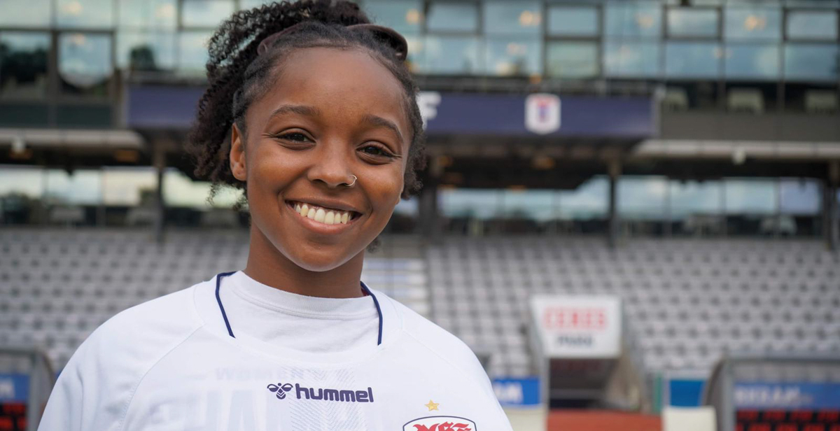 Briana Morris, the Sun Belt Conference's 2019-20 Female Student-Athlete of the Year, is scheduled to play in the spring 2021 season for Danish soccer team Aarhus Gymnastikforening Kvindefodbold, more commonly known as AGF. Photo courtesy of Briana Morris.