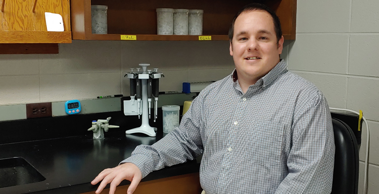 Dr. Jason Strickland, assistant professor in South's department of biology was part of a team breaking new ground in genetic research.