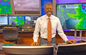 NBC 15 Chief Meteorologist and USA adjunct instructor Alan Sealls has achieved multiple firsts in his more than three decade career in television.