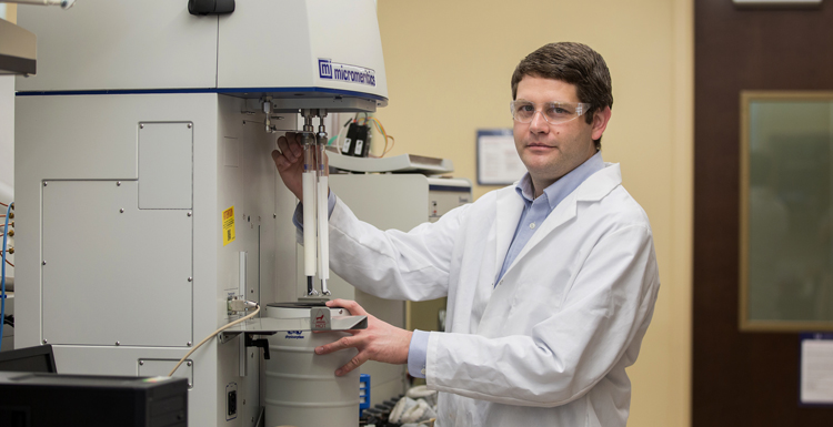 University of South Alabama assistant professor of chemistry Dr. T. Grant Glover is part of a collaborative effort with researchers from the University of California, Berkeley, the University of Chicago and General Electric to design and develop a portable device that produces drinking water out of thin air.