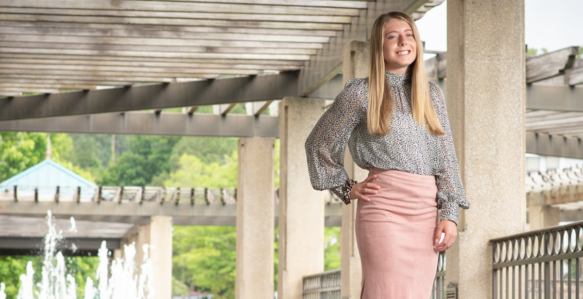 Katelyn Cowie said an entry level accounting course, along with an internship at Horton, Lee, Burnett, Peacock, Cleveland and Grainger, helped launch the course of her professional career.