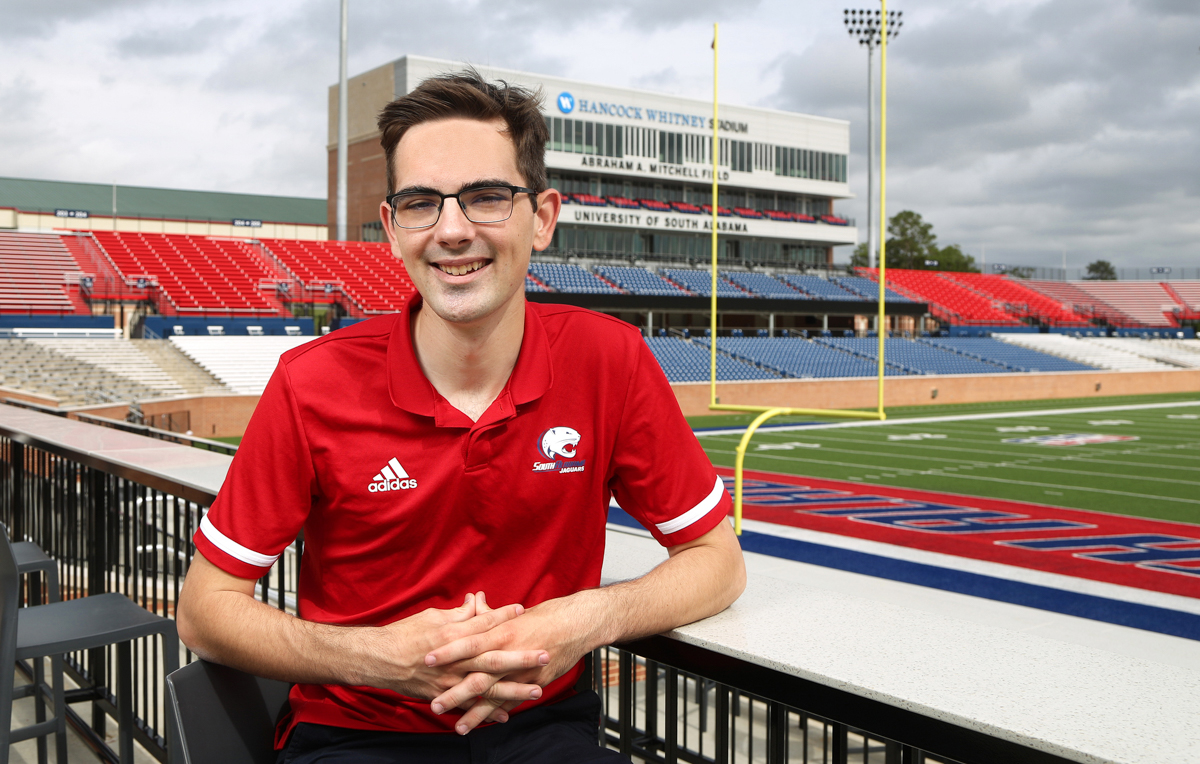 Kyle Samuel gained a great deal of sports broadcasting experience, working on Jag TV and ESPN+ productions, while a student at the University of South Alabama.