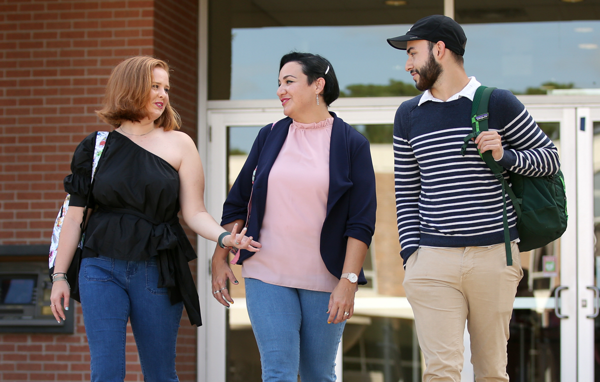 Zuleima Russell, a senior majoring in biology, attends the University of South Alabama with her daughter, Erica Howell, and son, Randall Russell.