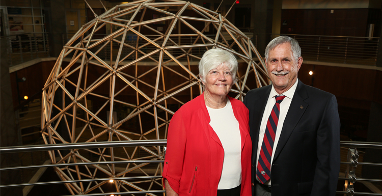 Ardent supporters of education and engineering, Drs. John and Sally Steadman hop their $3.8 million gift to South's College of Education helps generations of future engineering students pursue their dreams.
