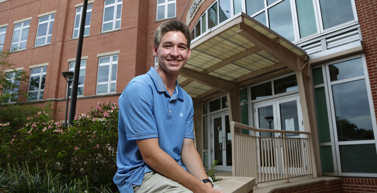 Connor Holm, a freshman biomedical sciences major in the Pat Capps Covey College of Allied Health Professions, was recently awarded the University of South Alabama Board of Trustees Scholarship.