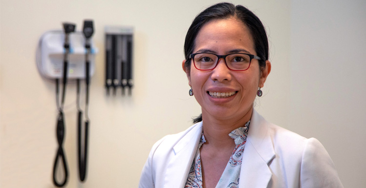 Dr. Haidee Custodio, an infectious disease pediatrician and associate professor of pediatrics at USA Health, is enrolled in the University of South Alabama Spanish for Healthcare Professionals Graduate Certificate Program, hoping to become proficient in Spanish to better serve her non-English speaking patients.