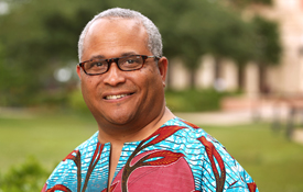 """Dr. Kern Jackson specializes in African American and Southeastern United States folklore and oral narrative. He is currently working on a book project titled """"Masters, Servants and Mardi Gras: Listening to the Wise Ones' Personal Narratives."""""""