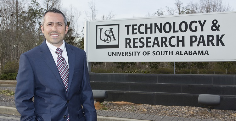 Harry Brislin, a USA alumnus, joined the University on Jan. 30 as USA Technology & Research Park?s first full-time manager.