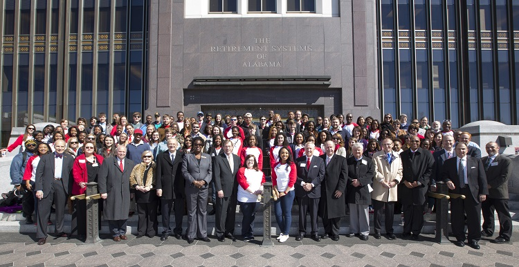 Hundreds of University of South Alabama supporters converged on Montgomery for Higher Education Day in 2014.
