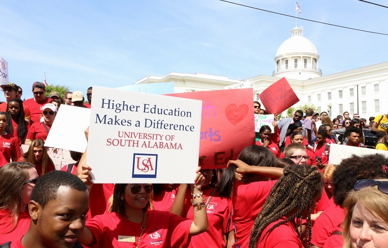 USA students make up one of the largest groups attending Higher Education Day.